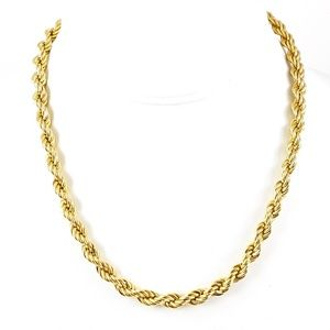 Monet Necklace Chain Thick Rope Gold Tone